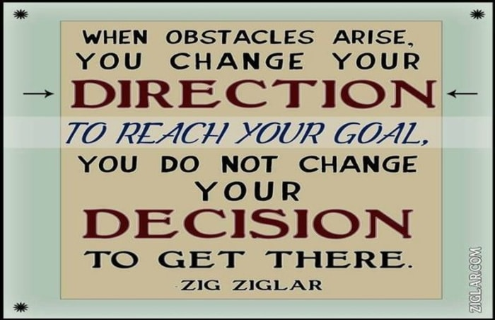 obstacle and direction quotes zig ziglar