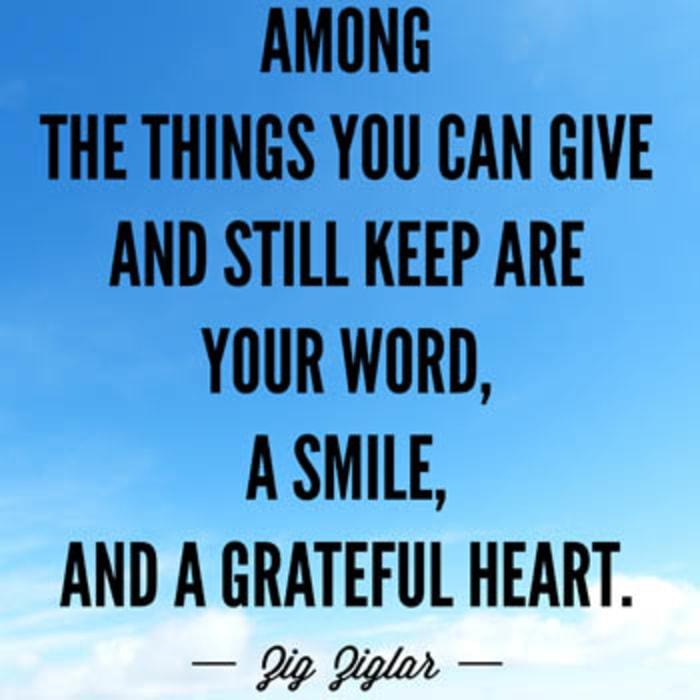 grateful heart  quotes zig ziglar